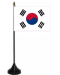 South Korea Desk / Table Flag with plastic stand and base.